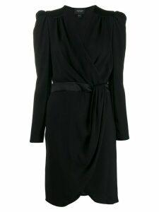 Giambattista Valli mock wrap midi dress - Black