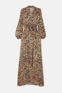 Temperley London - Piera Bow-detailed Leopard-print Hammered Silk-satin Gown - Leopard print