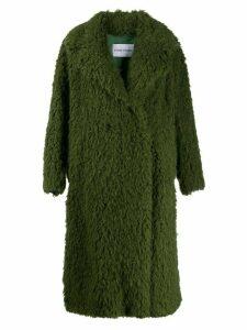 STAND STUDIO oversized sherpa coat - Green