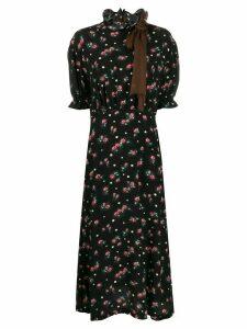 Miu Miu printed marocain dress - Black