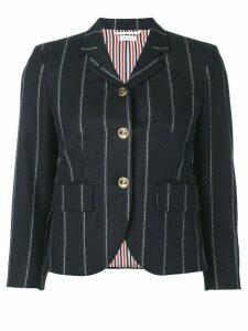 Thom Browne Shadow Stripe Flannel Sport Coat - Blue