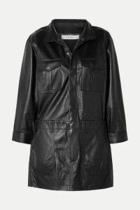 FRAME - Leather Mini Dress - Black