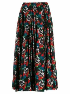Valentino x Undercover lovers print pleated skirt - Black