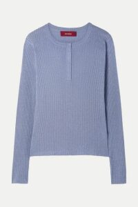 Sies Marjan - Kate Ribbed Metallic Wool-blend Sweater - Lilac