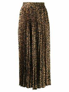 Andamane Becky leopard print skirt - Black