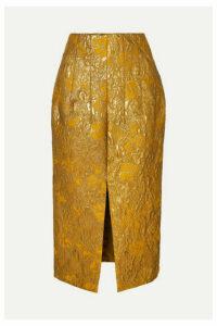 Brock Collection - Metallic Brocade Midi Skirt - Gold