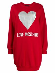 Love Moschino foil logo jumper dress - Red