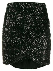 Giamba sequin wrap skirt - Black