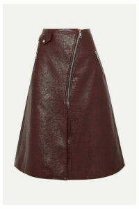 Beaufille - Garbo Faux Lizard-effect Leather Midi Skirt - Merlot