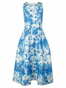 Carolina Herrera tie-dyed dress - Blue
