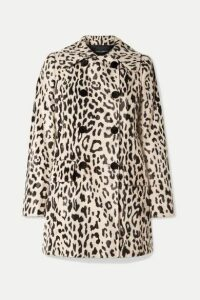 Dolce & Gabbana - Double-breasted Leopard-print Faux Fur Coat - Leopard print