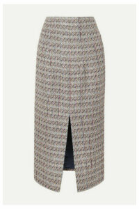 Brock Collection - Metallic Tweed Skirt - Light gray