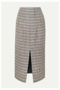 Brock Collection - Metallic Tweed Skirt - Light gray