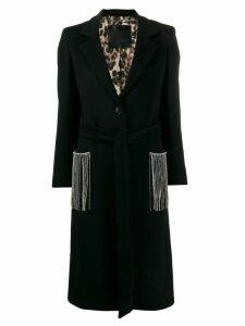 Philipp Plein fringed Cowboy coat - Black