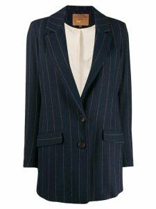 ALESSIA SANTI longline striped blazer - Blue