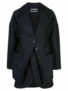 Jacquemus layered buttoned blazer - Blue