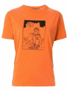Alexa Chung Occult boxy-fit T-shirt - Orange