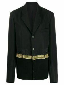 Haider Ackermann knit detail blazer - Black