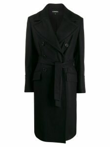 Ann Demeulemeester double breasted coat - Black