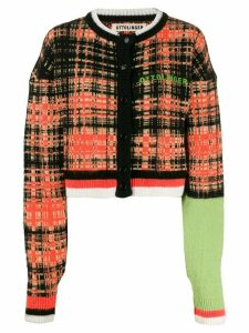 Ottolinger cropped checked cardigan - Orange