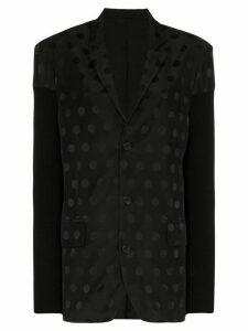 Haider Ackermann panelled polka-dot blazer - Black