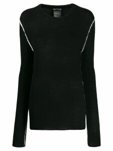 Ann Demeulemeester fine knit sweater - Black