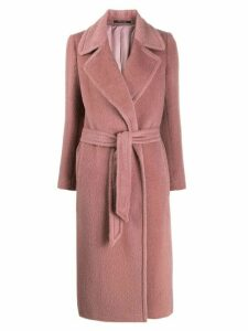 Tagliatore Molly long belted coat - Pink