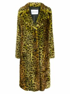 Stand Studio Fanny faux-fur coat - Yellow