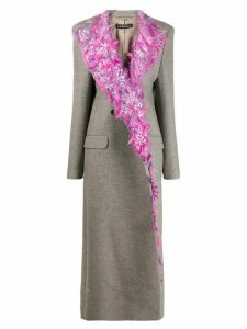 Y/Project fitted sequin-embellished coat - Grey