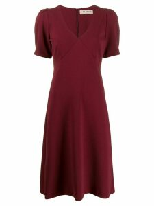 Blanca empire line midi dress - Red