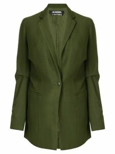 Jacquemus gathered details blazer - Green