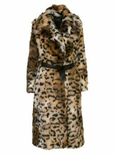 Alanui oversized leopard print coat - Brown
