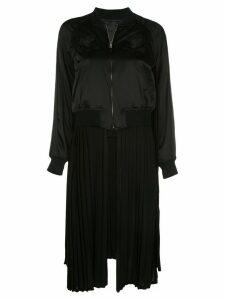 Comme Des Garçons Noir Kei Ninomiya pleated zipped coat - Black