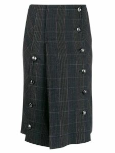 Chloé checked pleated skirt - Grey