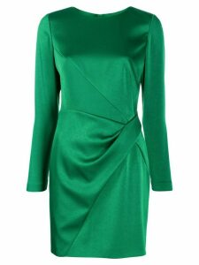 Paule Ka satin panelled cocktail dress - Green