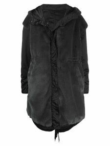 Nº21 reversible oversized parka coat - Black