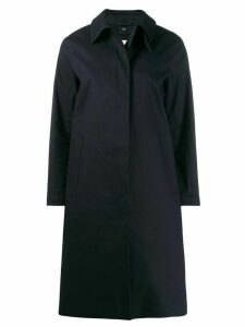 Mackintosh DUNKELD Navy Bonded Cotton 3/4 Coat LR-1001D - Blue