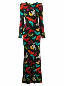 Alice+Olivia Rosaria butterfly-print maxi dress - Black