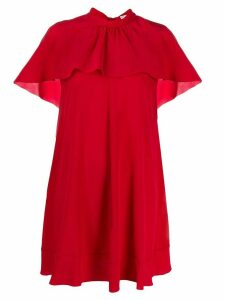 Red Valentino RED(V) cape style ruffled dress