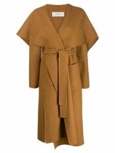 Pringle of Scotland long wrap coat - Brown