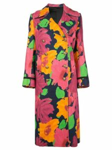 Junya Watanabe floral pattern double-breasted coat - Multicolour