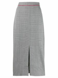 Tommy Hilfiger checked high waisted pencil skirt - Blue