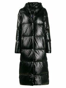 John Richmond long concealed zip down coat - Black