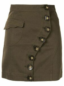 Acler Tana denim skirt - Green