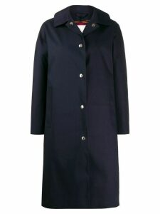 Mackintosh FAIRLIE Navy Bonded Cotton Coat LR-079D - Blue