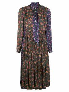 Junya Watanabe contrast pattern midi dress - Multicolour