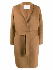 Fabiana Filippi belted fine knit coat - Brown