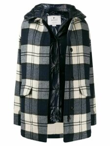 Woolrich oversized double-layer coat - Blue
