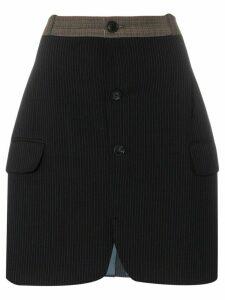 Rentrayage buttoned pinstripe skirt - Grey