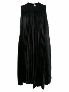 Comme Des Garçons Noir Kei Ninomiya pleated panel midi dress - Black